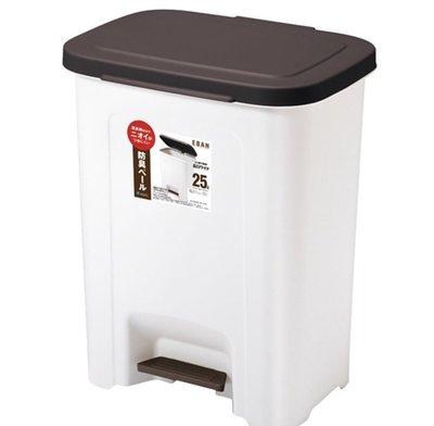 日本製ASVEL 腳踏垃圾桶 25L 深咖啡色