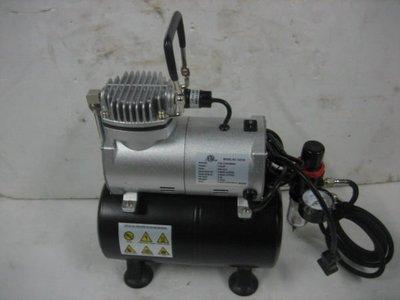 永久工具 ***** 專業超迷你美術空壓機 1/6HP 無油式靜音 品質優 贈風管