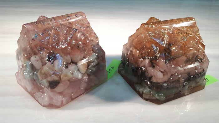 客製化 奧剛石 Orgonite 能量石 可當紙鎮 水晶飾品 生日禮物 耶誕節 禮物