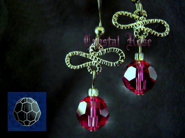 ※水晶玫瑰※ SWAROVSKI 8mm水晶珠 耳勾式針式耳環(DD333)~出清~三對免郵