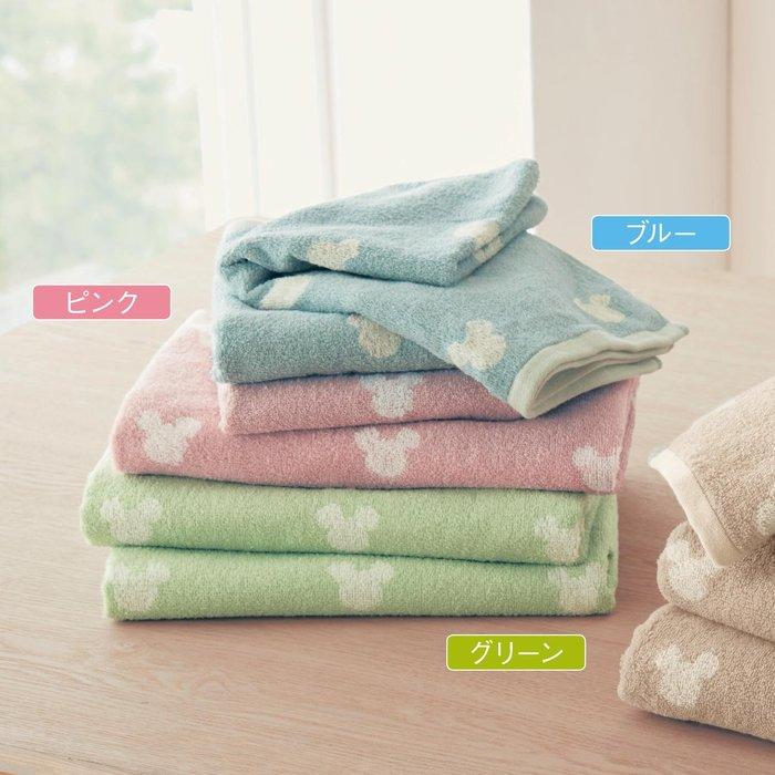迪士尼Disney《預購》米奇 100%綿浴巾~55X115CM~同色2入一組~共4色~日本正品~心心小舖