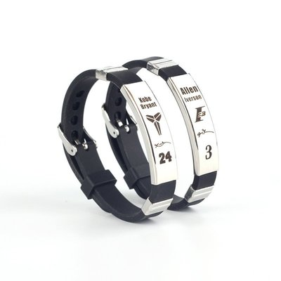 ☜男神閣☞籃球運動腕帶球星同款可調節不銹鋼情侶手環