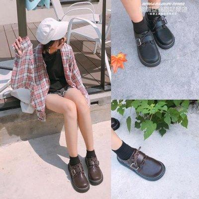 娃娃鞋原宿小皮鞋女學生韓版百搭大頭鞋復古日繫軟妹娃娃單鞋潮