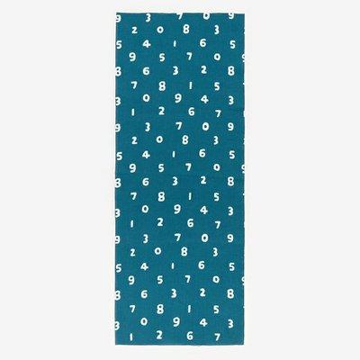 [現貨35*90公分] 京都 SOU SOU  伊勢木棉 生地/布料 - 土耳其藍數字 #口罩布