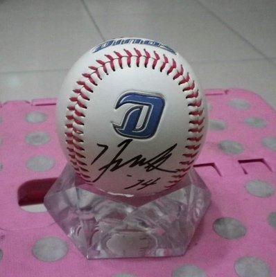 棒球天地--5折賠錢出清--2008北京奧運冠軍總教練 南韓斗山熊隊監督 金卿文 簽名球