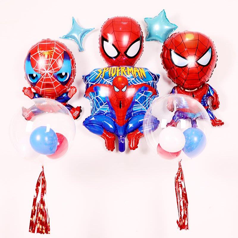 卡通男孩生日蜘蛛俠造型鋁膜氣球兒童玩具氣球派對節日慶典裝飾