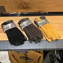 美國AMPM Timberland 添柏嵐 踢不爛 男裝 真羊皮觸屏設計保暖手套 A1EMN