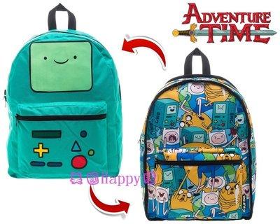 現貨☆ ╮美國Happy購╭☆ Adventure Time 探險活寶 滿版圖案/BMO 嗶莫 雙面 背包