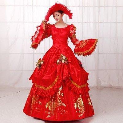 妞妞 婚紗禮服~歐洲皇室貴族華麗皇后復古宮廷風婚紗~~長禮服~3件免郵