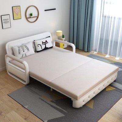 可摺疊沙發床出租房現代網紅多功能小戶型 雙人兩用儲物推拉伸縮免運 柳風向