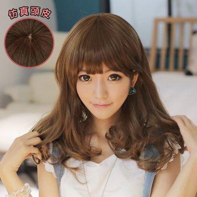 棉花糖女孩中長梨花假髮-高仿真超自然整頂假髮【MA113】☆雙兒網☆