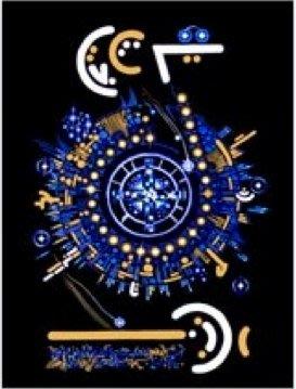 [心靈之音] #56 球體時間藍圖 (時間管理與組織) SPHERICAL TIME BL-能量催化圖-美國進口中文說明