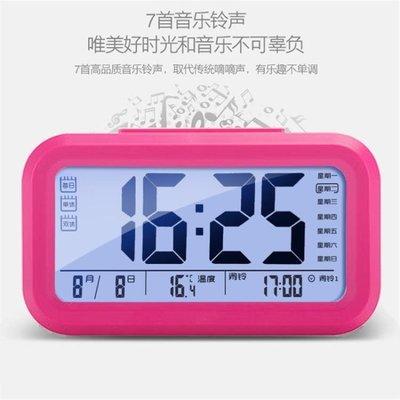 學生鬧鐘創意簡約時尚電子鐘夜光床頭鐘靜音兒童多功能臥室臺鐘錶
