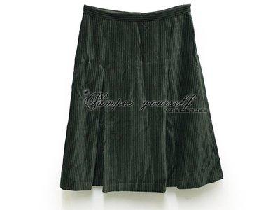 全新 專櫃真品 agnes.b 及膝裙 褶裙  深綠色 裙子 短裙 長裙 可參考 法國製造
