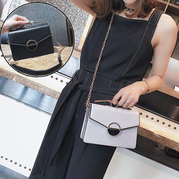 韓國連線 復古 皮革 鍊條 側背包 雙面包 小側背包 斜背包 單肩包 方包 肩背包 小方包 包包 女包 小包 小ck風格