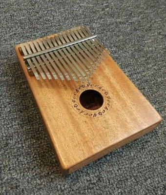 【老羊樂器店】現貨 免運  GECKO K17M 17音 EQ 拇指琴 卡林巴琴 桃花心木  姆指琴  手指鋼琴