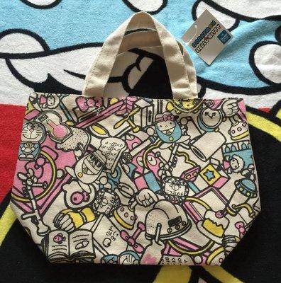 Piggy 全新真品日本購回三麗鷗小叮噹 DORAEMON HELLO KITTY 聯名款帆布包