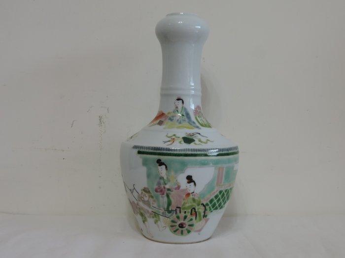 丁香之家--十九世紀枌彩人物蒜頭瓶
