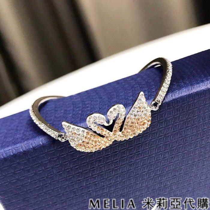 Melia 米莉亞代購 0305 19ss Swarovski 施華洛世奇 ICONIC SWAN 手鐲 漸變色水晶