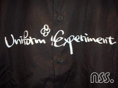 特價【NSS】uniform experiment 2012 12  UE HANDWRITING FRONT ART SHIRT 黑S