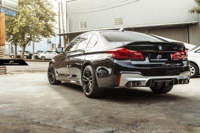 【台中政銓】BMW G30 G31 升級 F90 M5 P款 抽真空 高品質 卡夢 後下巴 免費安裝 現貨供應