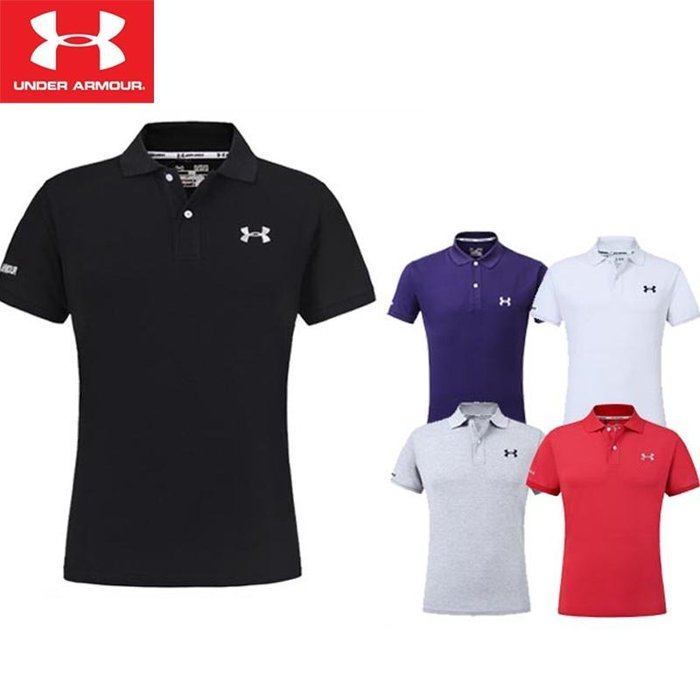 UA Under Armour 安德瑪 男 春夏 運動高爾夫 情侶款 POLO衫 運動速幹透氣 訓練服 短袖T恤