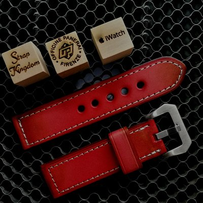 Vintage Red Hand-dyed Cowhide Strap