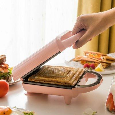 麵包機小熊三明治機家用雙面加熱懶人早餐機全自動壓烤面包華夫餅輕食機吐司機