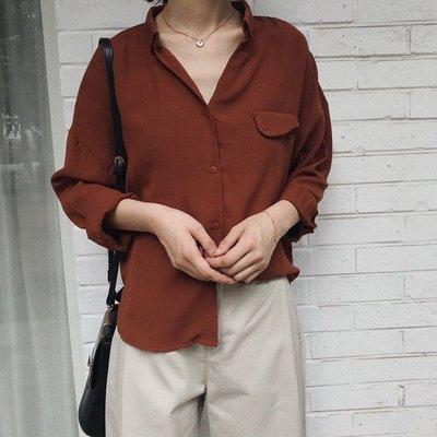 初秋新款上衣-柔軟舒適寬鬆雪紡襯衫上衣...
