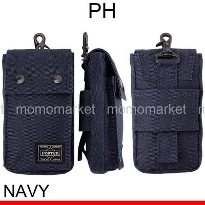 momo日本製PORTER TOKYO JAPAN藍色i Phone X 8 7 s plus + xs手機套s8腰袋phone bag腰包xr pouch禮物