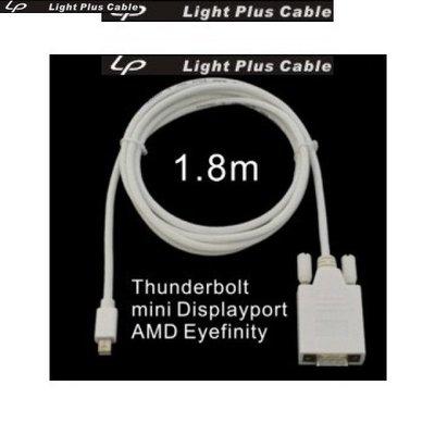LPC-1780 全新設計 mini Displayport轉VGA 轉接器 1.8米(支援Eyefinity)