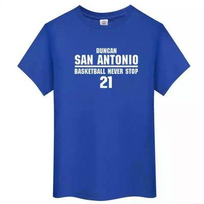 🌈石佛Tim Duncan鄧肯短袖棉T恤上衣🌈NBA馬刺隊Nike耐克愛迪達運動籃球衣服T-shirt男女喬丹474