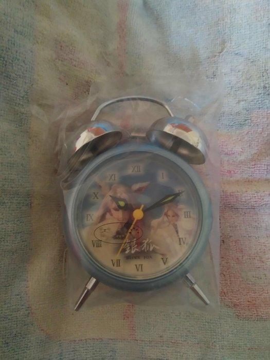 全新全益絕版逸品霹靂布袋戲銀狐雙耳鬧鐘