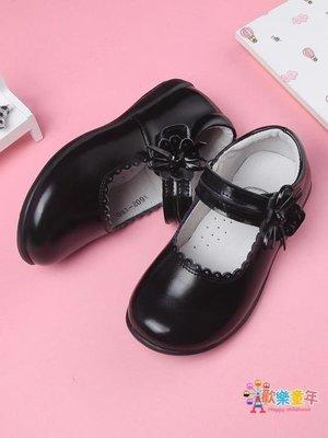 新款單鞋兒童黑色皮鞋女童黑皮鞋演出鞋皮質學生小皮鞋公主鞋