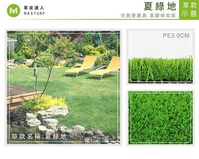 【草皮達人】人工草皮PE-3.0cm 夏綠地 下標用整捲+配件NT27850(已含稅) 園藝 景觀 裝潢 空間設計
