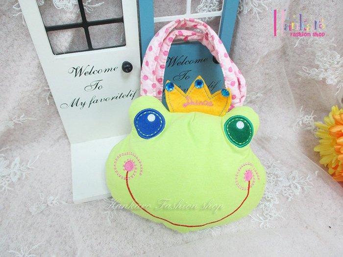 ☆[Hankaro]☆日韓流行青蛙造型兒童小提包(樣品出清)