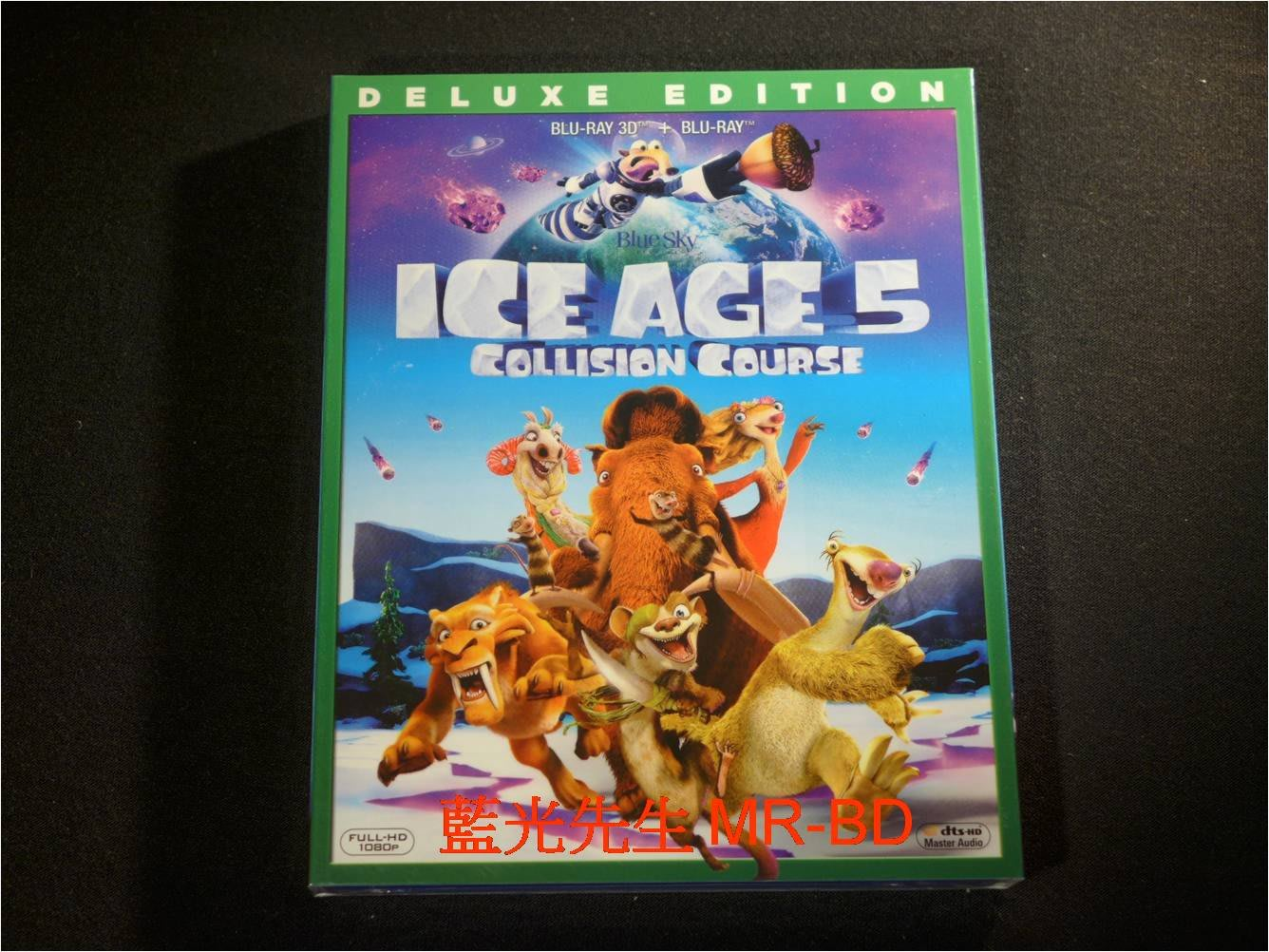[3D藍光BD] -冰原歷險記5:笑星撞地球 Ice Age : Collision Course 3D+2D 雙碟限定版