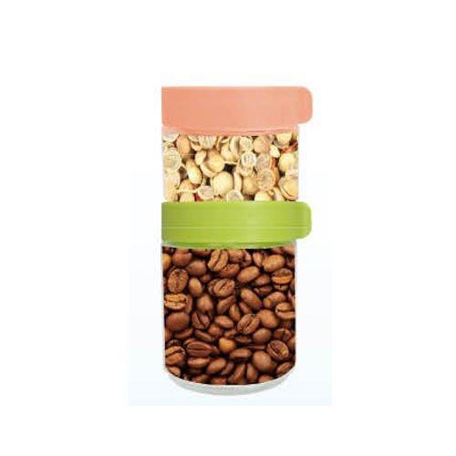 疊疊樂 積木玻璃保鮮罐250ML*2+400ML *1積木儲物罐  保鮮罐 零食罐 糖果罐 冰箱門 收納罐