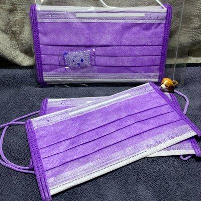 現貨🌈台灣優紙🌈紫色耳繩成人平面口罩(10入)