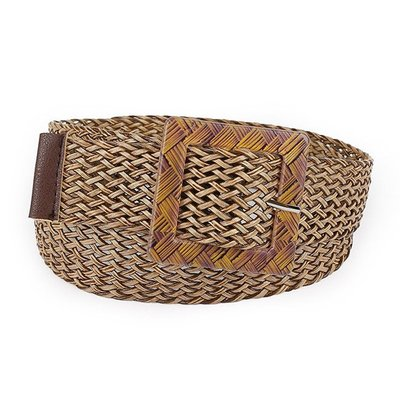 腰鏈皮帶 素色 民族風 鏤空 編織 幾何 釦環 針釦 寬版 腰帶【SB016】