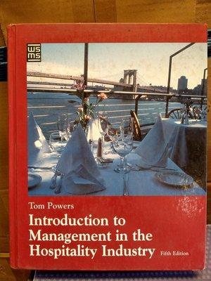 【二手原文書】Introduction to Management in the Hospitality Industry