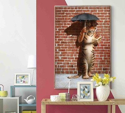 C - R - A - Z - Y - T - O - W - N 創意老虎掛畫 北歐風 可愛動物掛畫  現代簡約裝飾畫