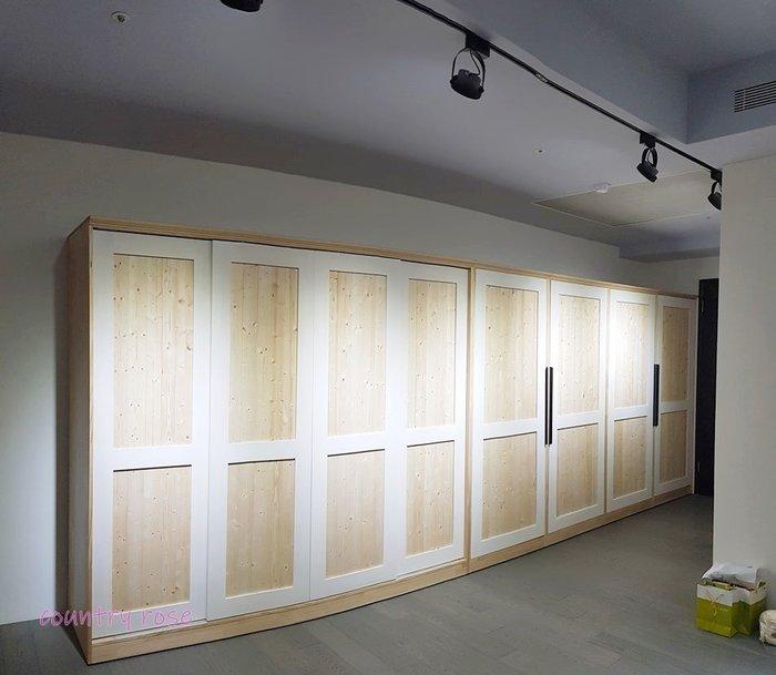 北歐風雙色大衣櫃  展示櫃 置物櫃 鞋櫃 - 鄉村玫瑰 木工坊 店面裝潢