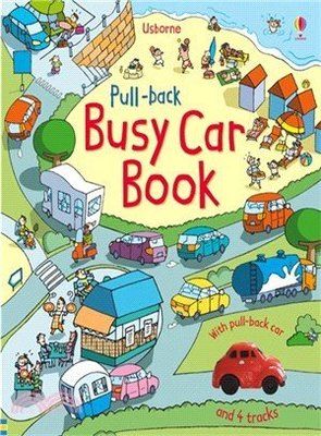 Usborne Pull-back busy car book /好忙的車子 (玩具書)