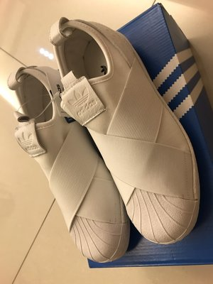Adidas Superstar SlipOn 白 繃帶鞋 女鞋 休閒鞋 BZ0111