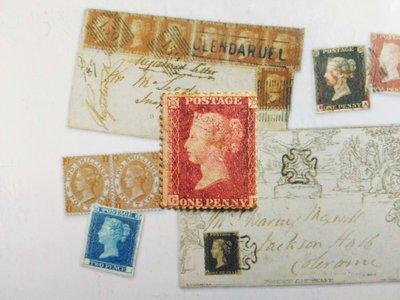 大英帝國 1855年 Queen Victoria - 維多利亞女王 紅便士(齒孔位移)