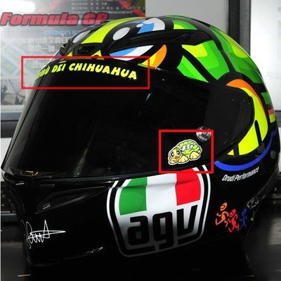 [Formula GP] Motogp AGV K3 安全帽 羅西 ROSSI 烏龜 羅西龜 鏡片貼紙 車貼貼紙 台北市