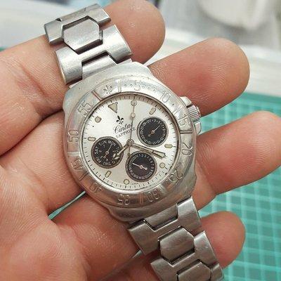 ☆藍寶石鏡面☆ 三眼錶 零件錶 漂亮 老錶 隨便賣 男錶 中性錶 非 RADO ck mk iwc TELUX D08 SEKIO CASIO CITIZEN