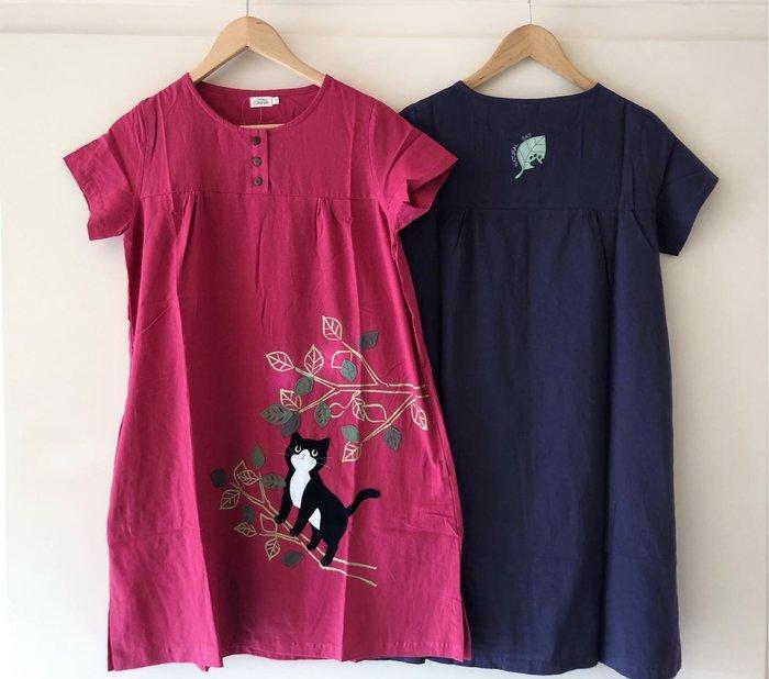 日本卡拉貓~樹上的喵薄布洋裝 M/L