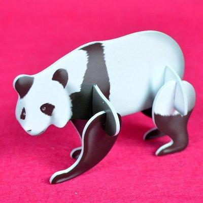 佳廷家庭 親子DIY紙模型3D立體拼圖贈品獎勵品專賣店 昆蟲館動物園 袋裝野生動物1熊貓 卡樂保